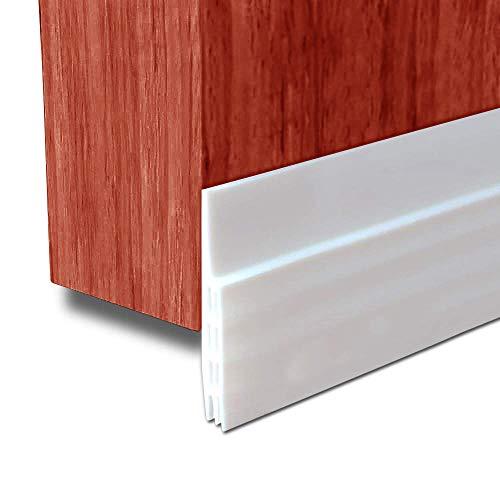 Door Draft Stopper Door Bottom Seal Weather Stripping- BLENDX Under Door Sweep Waterproof Weather Strip Energy & Money Saving, 2