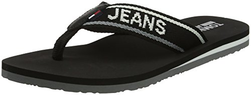 Tommy Jeans Low Beach Sandal, Chanclas Para Mujer Negro (Black 990)