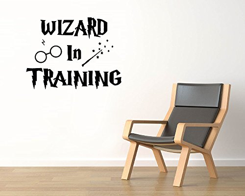 Harry Potter Vinyl Wall Decals Wizard In Training Magic Wand Spectacles Book Film The Boy Who Survived Decal Sticker Vinyl Murals Decors - Spectacles In Latest Trends