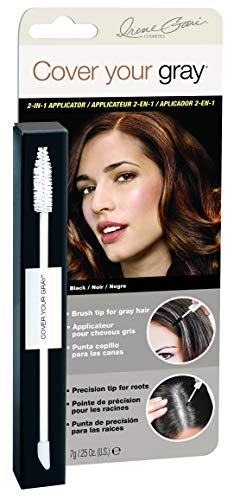 Daggett & Ramsdell Cover Your Gray 2-in-1 Mascara Wand & Sponge Tip Applicator, Black, 0.5 ()