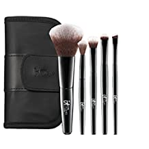 It Cosmetics Your Face & Eye Essentials Mini 5 Piece Travel Brush Set by It Cosmetics