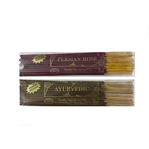 Persian Rose and Ayurvedic Incense Sticks , 50 gms - Set of 2