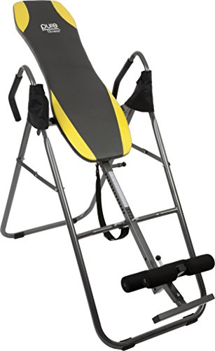 Pure Fitness Gravity Inversion Therapy Table: Adjustable Folding Table, Yellow/Black by Pure Fitness