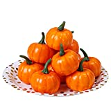 Elcoho 12 Pack Small Artificial Lifelike Pumpkin