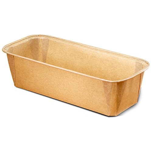 Paper Bakeware Loaf Pan,bake your Loafs Cakes, Banana Cake, Seed Bread. Anything you wish to bake in a rectangular shape Size L 7 7/8'' x W 2.87'' x H 2.45'' Model 8019962G (780) by Ecobake