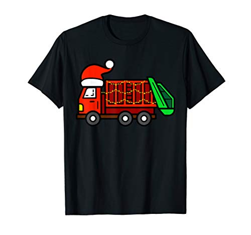 Christmas Themed Costumes (Garbage Truck   Christmas Santa Hat Themed Tee)