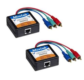 MuxLab 500052-2PK Component Video/Analog Audio Balun, 2-Pack