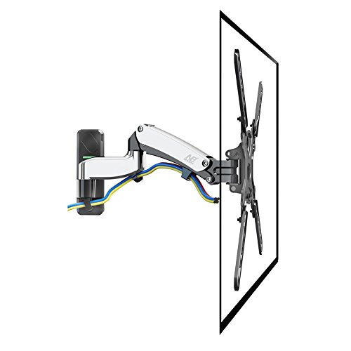 "North Bayou F450 Gas Spring Full Motion TV Wall Mount for 40""-50"" LED LCD Plasma Flat Display Screen Monitor Arm TVs Extends 18.7"" VESA 100 x 100 - 400 x 400mm Bundle Swivel 180°"