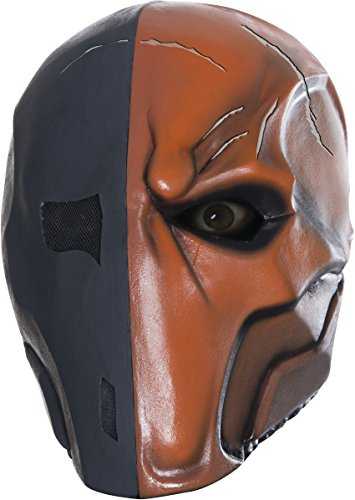 Rubie's Costume Men's Arkham City Adult Deluxe Overhead Latex Death Stroke Mask, Multi, One Size (Arkham City Mask)