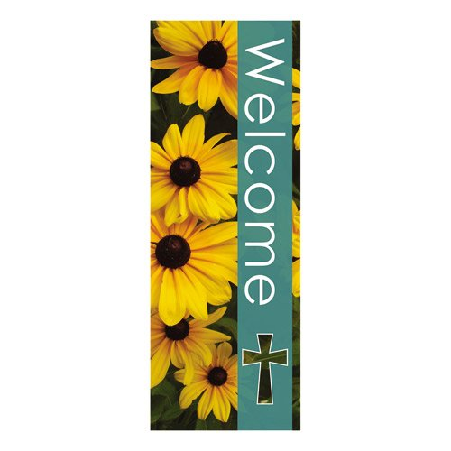 - AT001 Catholic & Religious Seasons Welcome Series X-Stand Banner - Summer