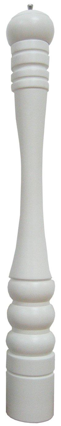 WOODEN Mill JAVA Pepper Mill in Matte White Color 31.5-Inch de Buyer P256.800303