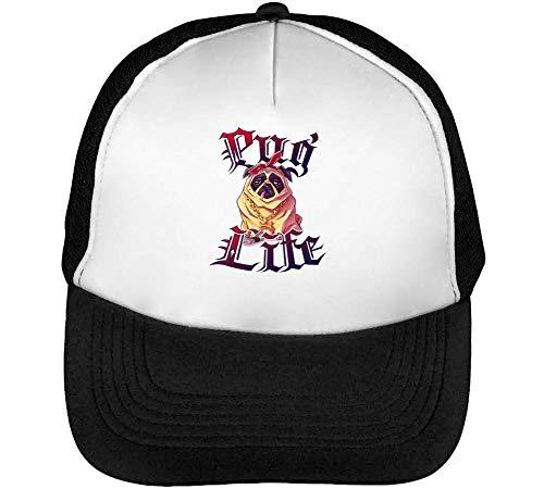 Pug Snapback Negro Gorras Beisbol Hombre Thug Blanco Life 1qwU88
