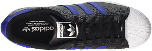Adidas Superstar Bz0196 Mens Shoes Black-marinblå