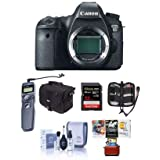 Canon EOS-6D Digital SLR Camera Body, 20.2 Megapixel - Bundle 32GB SDHC Class 10 Memory Card, Slinger Camera Bag, Cleaning Kit, Card Case, Remote Shutter Trigger, MAC Software Package