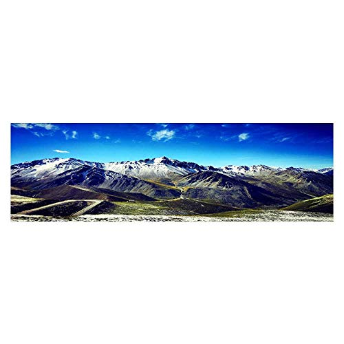 Leighhome Fish Tank Background Xinjiang Tianshan Mountain Range Single Kuo Highway Pictures PVC Decoration Paper Cling Decals Sticker L29.5 x H21.6