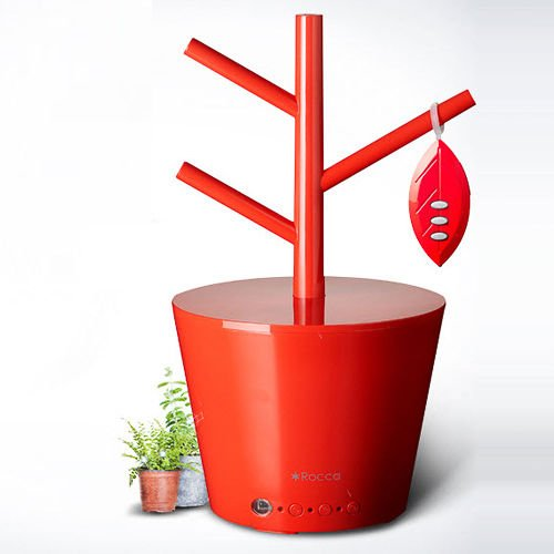 Doshisha Rocca Rc-kw902 Red Electric Ultrasonic Flowerpot Humidifier 220v by Doshisha Rocca RC-KW902 Red Electric Ultrasonic Flowerpot Humidifier 220V