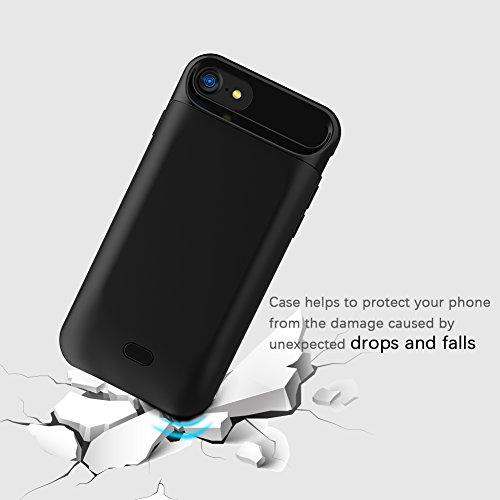 Custodia Batteria iPhone 7 / iPhone 8, LifeePro 5000mAh Caricabatteria Esterna Portable integrata Batteria Power Bank Backup Full Protezione Ultra Sottile Cover Batteria Caso di Ricarica Custodia Prot