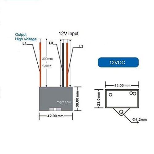 12V NEGATIVE ION GENERATOR High Density ionizer 9.5Kv Module Only - Negative Energy Generator