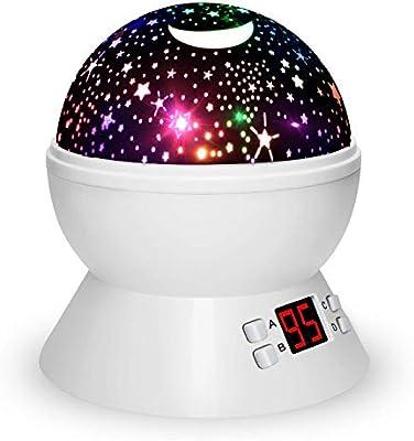 Luces de Noche para niños, proyector de Estrellas rotativas de ...