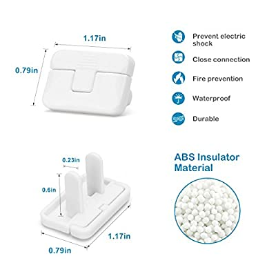Outlet Plug Cover, PRObebi Baby Safety Plug Covers, Socket Cover No Easy to Remove by Children Keep Prevent Baby from Accidental Shock Hazard, 60 Pack White
