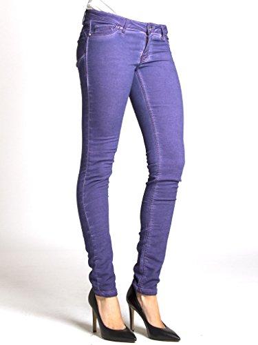 Felpato Jeans Interno Push Tinta Per Up Vita Jogger Modello Unita A Carrera Donna Vestibilità Bassa 555 Viola 788 Sigaretta vdPwyRq