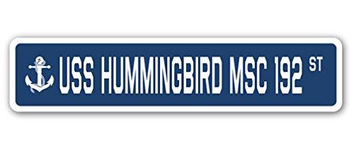 USSハミングバード MSC 192 ストリートサイン アメリカ海軍退役軍人セーラーギフト 8