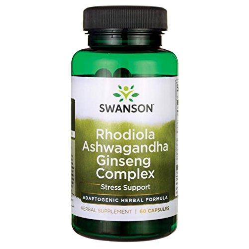 Swanson Rhodiola Ashwagandha Ginseng Complex 60 Caps
