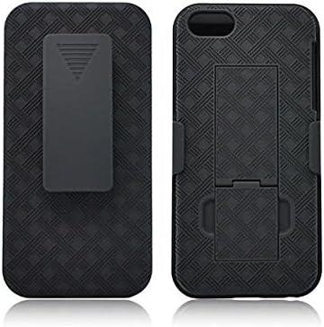 iPhone SE Coque, iPhone 5S, 5 [fin] Coque rigide holster Case Combo avec [verrouillage pivotant] Clip ceinture et béquille pour Apple I Phone SE/5/5S ...