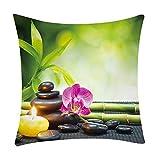 Pgojuni Fresh Style Scenery Printing Pillowcase Fashion Pillow Case Polyester Sofa Car Cushion Cover Home Decor Cover Pillow Case1pc (45cm X 45cm) (C)