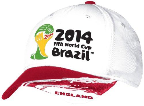 adidas England 2014 FIFA World Cup Paint Brush Flex Fit Hat/Cap Large/X-Large (England World Adidas Cup)
