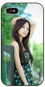 Surelock iPhone 5C Sexy asian girl, green background - black plastic case, hot girl, girls