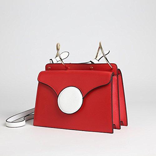 Sac Yellow en Cuir Main Orange Satchel Cadeaux Bag de épaule carré Vintage à Handle Top Rouge Couleur Petit Blue Messenger Jxth Bague mélangée Couleur Sac Vintage aqpSA