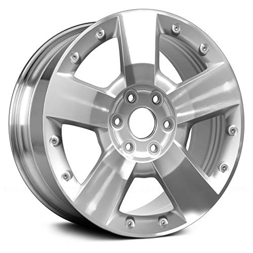 (Value 5 Spokes Bright Polished Factory Alloy Wheel OE Quality Replacement)