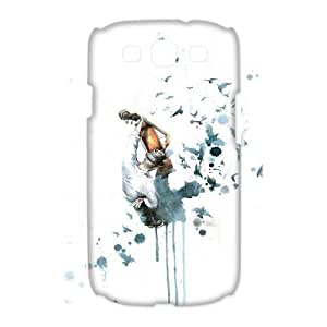 3D Samsung Galaxy S3 Case, Abstract Watercolor Hard Case For Samsung Galaxy S3(White) Yearinspace063486