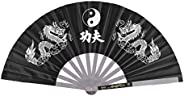 Tai Chi Fan Chinese Style Kung Fu Fan Stainless Steel for Martial Arts Dance Practice Training Performance