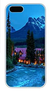 Beautiful Place PC Case Cover for iPhone 5 and iPhone 5s White Halloween gift