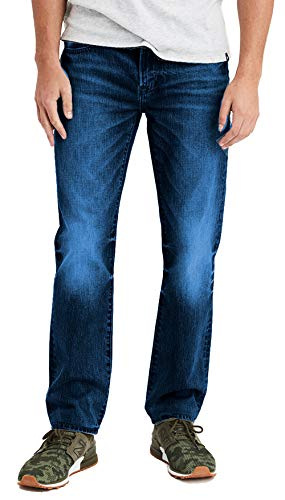 American Eagle Mens 4416913 Original Straight Next Level Flex Jean, Dark Indigo Wash 31x30