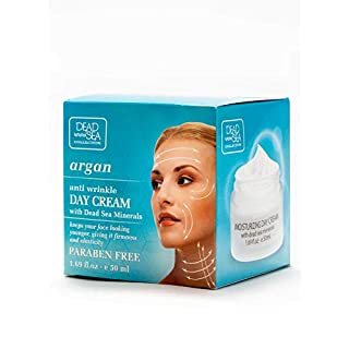 Argan Anti Wrinkle Day Cream with Dead Sea Minerals for firmness and elasticity, Dead Sea Collection, 1.69 fl oz.