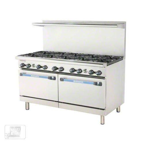 """Turbo Air (TAR-10) - 60"""" Open Burner Restaurant Range – Radiance Series"""