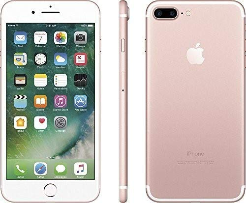 Apple iPhone 7 Plus, 128GB, Rose Gold - For AT&T / T-Mobile (Renewed)