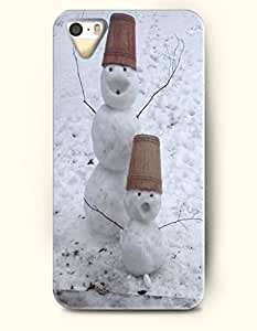 SevenArc iPhone 5 5s Case - Snowman Father And Son In Snowfield