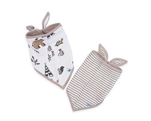 Little Unicorn Cotton Muslin Bandana Bib 2 Pack - Forest Friends Set