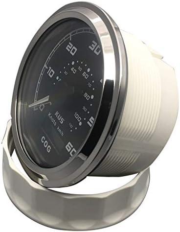 Blanc KUS Compteur De Vitesse GPS Compteur De Vitesse 60Knots Avec R/étro/éclairage De Cours Pour Yachts /À Bateau 85mm 12V//24V
