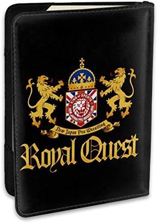 NJPW Royal Quest 新日本プロレスリング パスポートケース パスポートカバー メンズ レディース パスポートバッグ ポーチ 収納カバー PUレザー 多機能収納ポケット 収納抜群 携帯便利 海外旅行 出張 クレジットカード 大容量