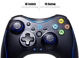ZD N [azul] Controlador USB Radio Gamepad mando para PC (Windows ...