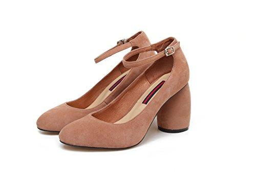 redonda Thirty Donyyyy son zapatos talón eight cuero cómodas zapatos y Zapatos femenino mujer de cabeza único de mujer qCarwZqpnx