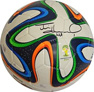 Tim Howard signed Adidas Brazuca 2014 Brazil FIFA World ...