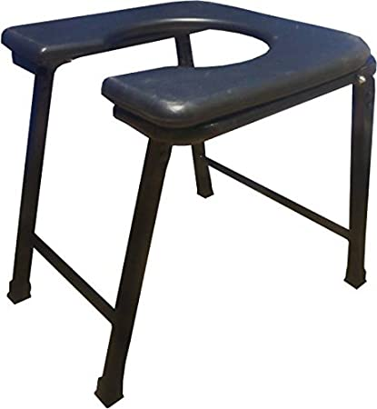 Fine Medtrix Heavy Duty Folding Commode Stool Black Pabps2019 Chair Design Images Pabps2019Com