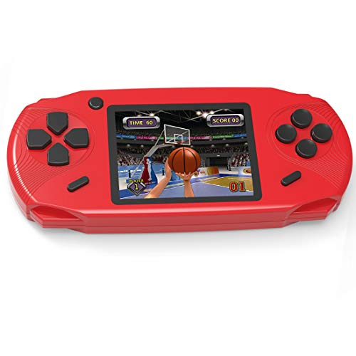 - Beijue 16 Bit Handheld Games for Kids Adults 3.0'' Large Screen Preloaded 100 HD Modern Video Games Seniors Electronic Game Player for Boys Girls Birthday Xmas Present (Red)