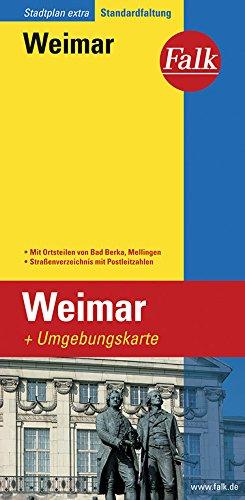 Falk Stadtplan Extra Standardfaltung Weimar